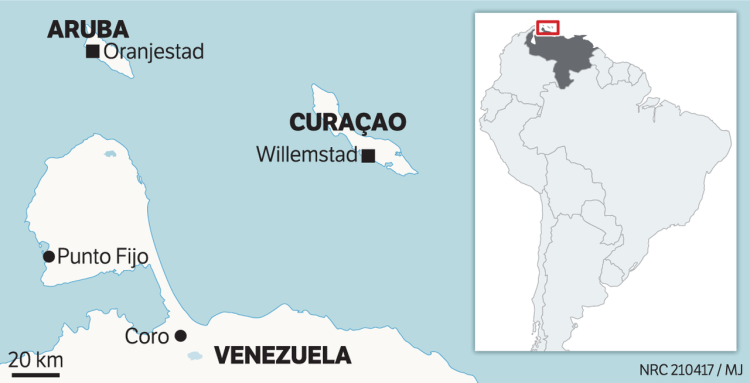 Kaart venezuela